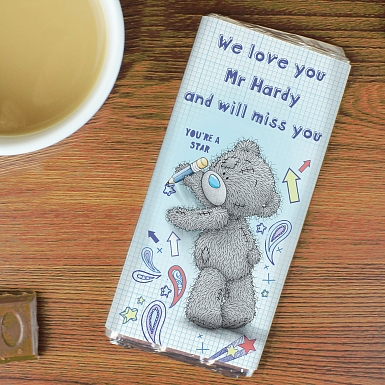 Personalised Me to You Teacher Milk Chocolates Bar