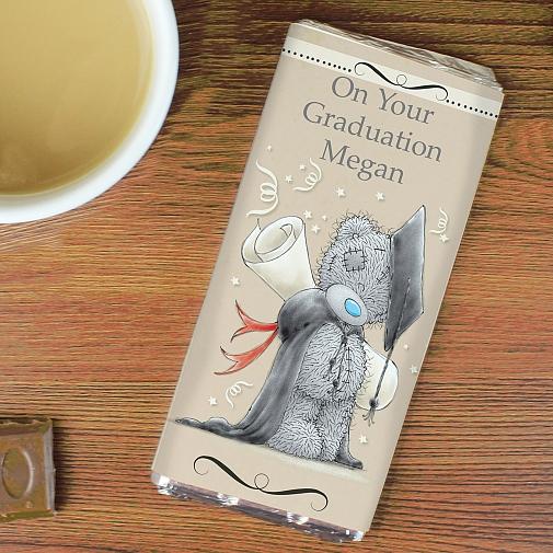 Personalised Me to You Graduation Milk Chocolates Bar