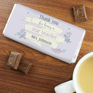 Personalised Garden Bloom Milk Chocolates Bar