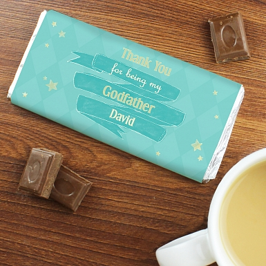 Personalised Shining Star Milk Chocolates Bar