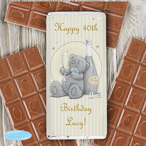 Personalised Me To You Gold Stars Milk Chocolates Bar