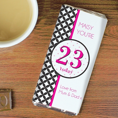 Personalised Harlequin Milk Chocolates Bar