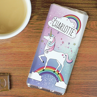 Personalised Unicorn Chocolates Bar