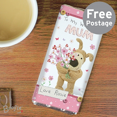 Personalised Boofle Flowers Chocolates Bar