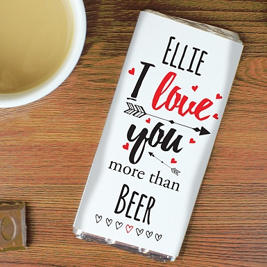 Personalised I Love You More Than... Chocolates Bar