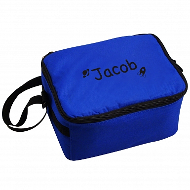Personalised Black Rocket Lunch Bag