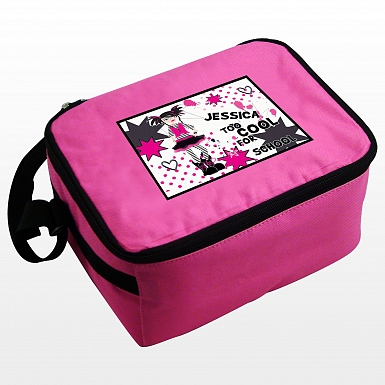 Personalised Too Cool Girl Lunch Bag