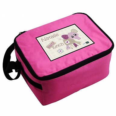 Personalised Cotton Zoo Wynciette the Elephant Lunch Bag