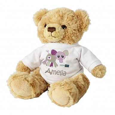 Personalised Cotton Zoo Wynciette the Elephant Teddy