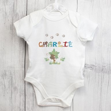 Personalised Animal Alphabet Baby Vest