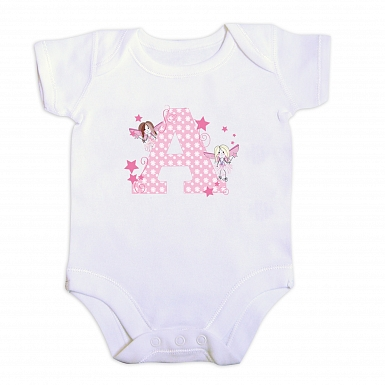 Personalised Fairy Letter Baby Vest