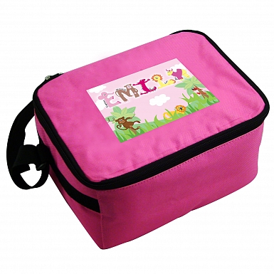 Personalised Girls Animal Alphabet Lunch Bag