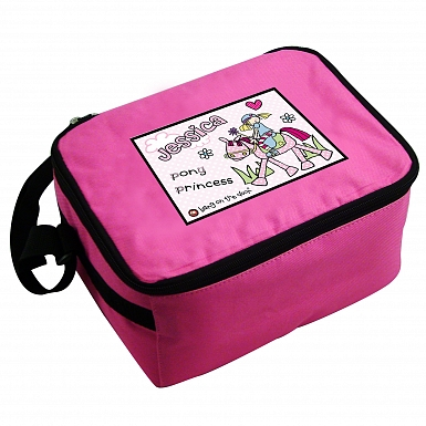 Personalised Bang on the Door Pony Girl Lunch Bag