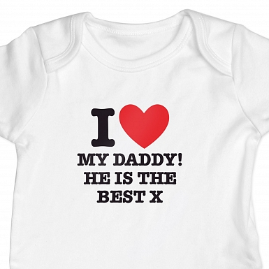 Personalised I HEART 6-9 Months Baby Vest