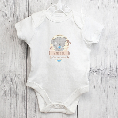 Personalised Tiny Tatty Teddy 0-3 Months Baby Vest