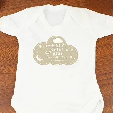 Personalised Twinkle Twinkle Baby Vest