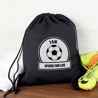 Personalised Football Fan Swim & Kit Bag