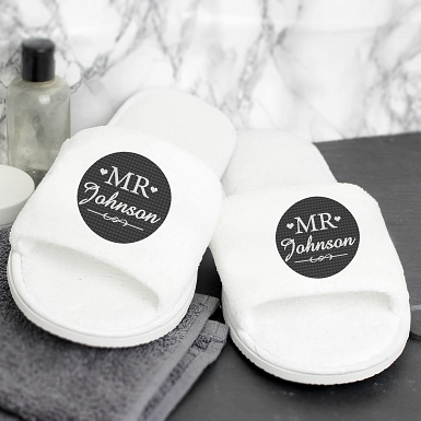 Personalised Mr Velour Slippers