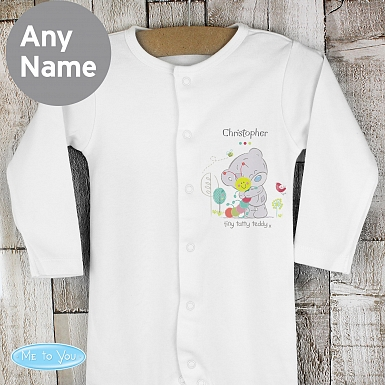 Personalised Tiny Tatty Teddy Cuddle Bug 6-9 Months Babygrow