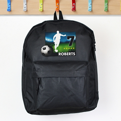 Personalised Team Player Black Backpack