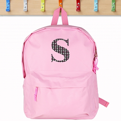Personalised Star Initial Pink Backpack