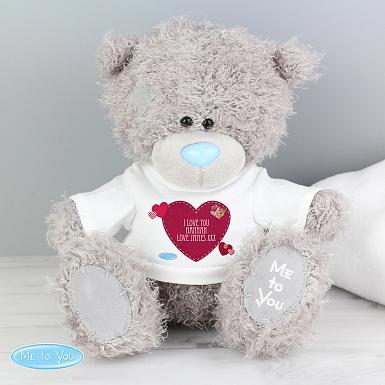 Personalised Me To You Bear with Heart T-Shirt delivery to UK [United Kingdom]
