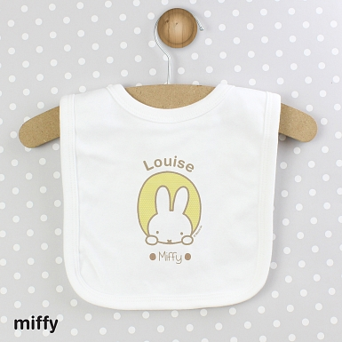Personalised Miffy Peekaboo Baby Bib