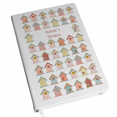 Personalised Birdhouse Hardback A5 Notebook