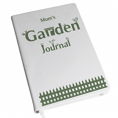 Personalised Garden Journal Hardback A5 Notebook
