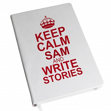 Personalised Keep Calm Hardback A5 Notebook