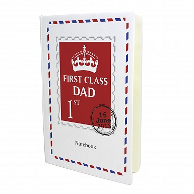Personalised 1st Class Hardback A5 Notebook