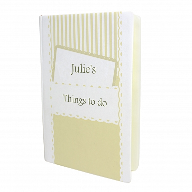 Personalised Elegant Cream Hardback A5 Notebook