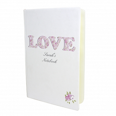 Personalised Love Hardback A5 Notebook