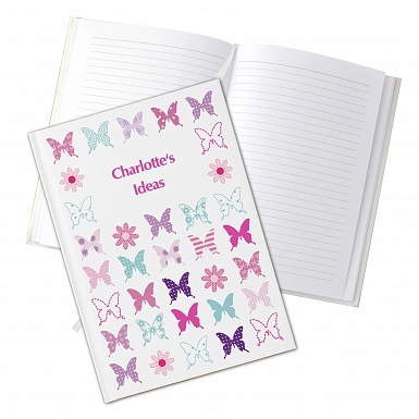 Personalised Butterfly Hardback A5 Notebook