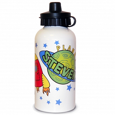 Personalised Space Drinks Bottle