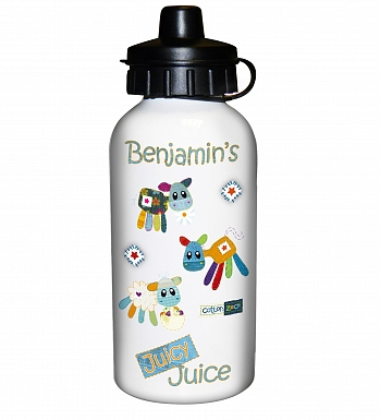 Personalised Cotton Zoo Boys Farmyard Drinks Bottle