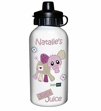 Personalised Cotton Zoo Wynciette the Elephant Drinks Bottle