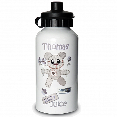 Personalised Cotton Zoo Boys Tweed the Bear Drinks Bottle
