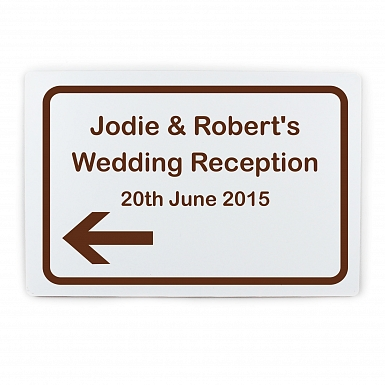 Personalised Brown Road Left Arrow Sign