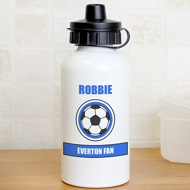 Personalised Dark Blue Football Fan Drinks Bottle
