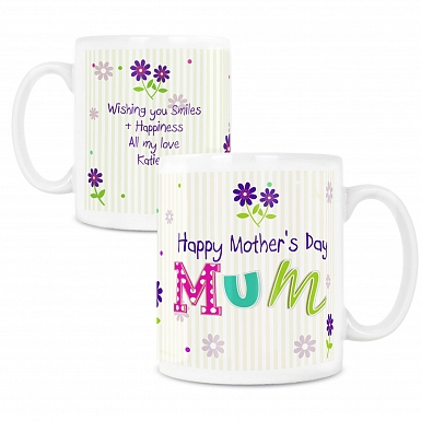 Personalised Patchwork Flowers Mug