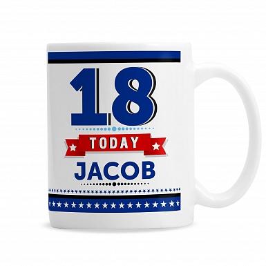 Personalised Birthday Star Mug