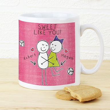 Personalised Purple Ronnie Sweet Like You Mug