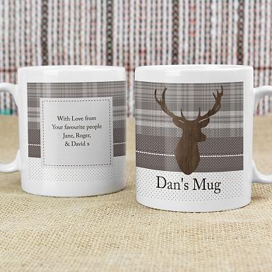 Personalised Highland Stag Mug
