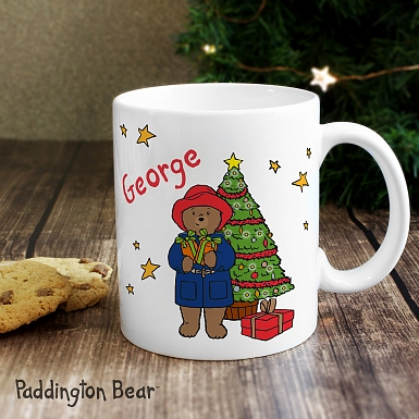 Personalised Paddington Bear Christmas Mug