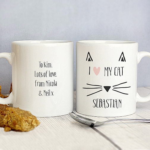Personalised Cat Features Mug