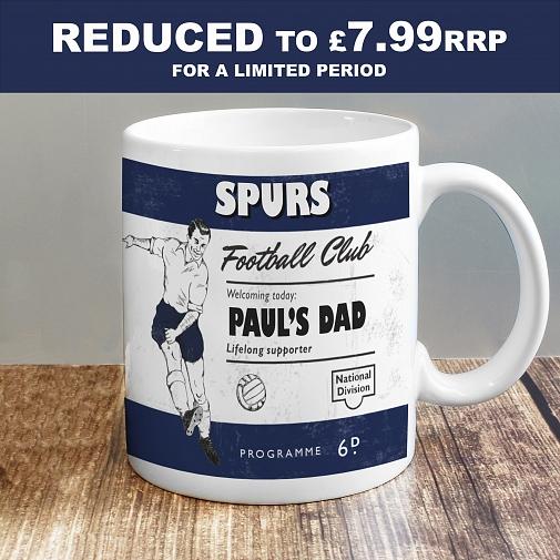 Personalised Vintage Football Navy Supporter's Mug