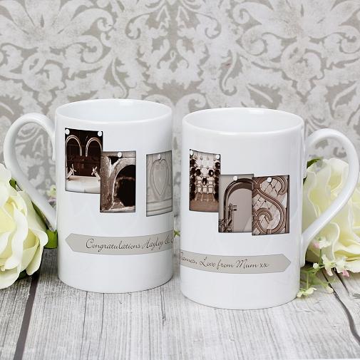 Personalised Affection Art Mr & Mrs Slim Mug