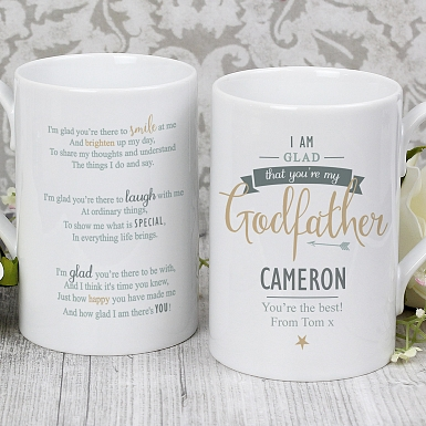 Personalised I Am Glad... Godfather Slim Mug