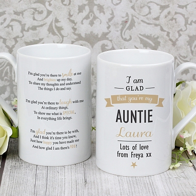 Personalised I Am Glad...Auntie Slim Mug